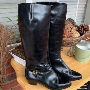Salvatore Ferragamo Black Leather Boots 6